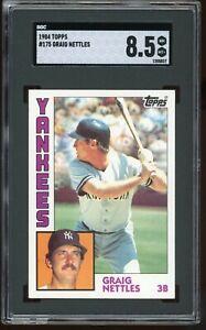 1984-Topps-175-Graig-Nettles-SGC-Graded-8-5-PSA-8-5-Yankees-Graded-Card
