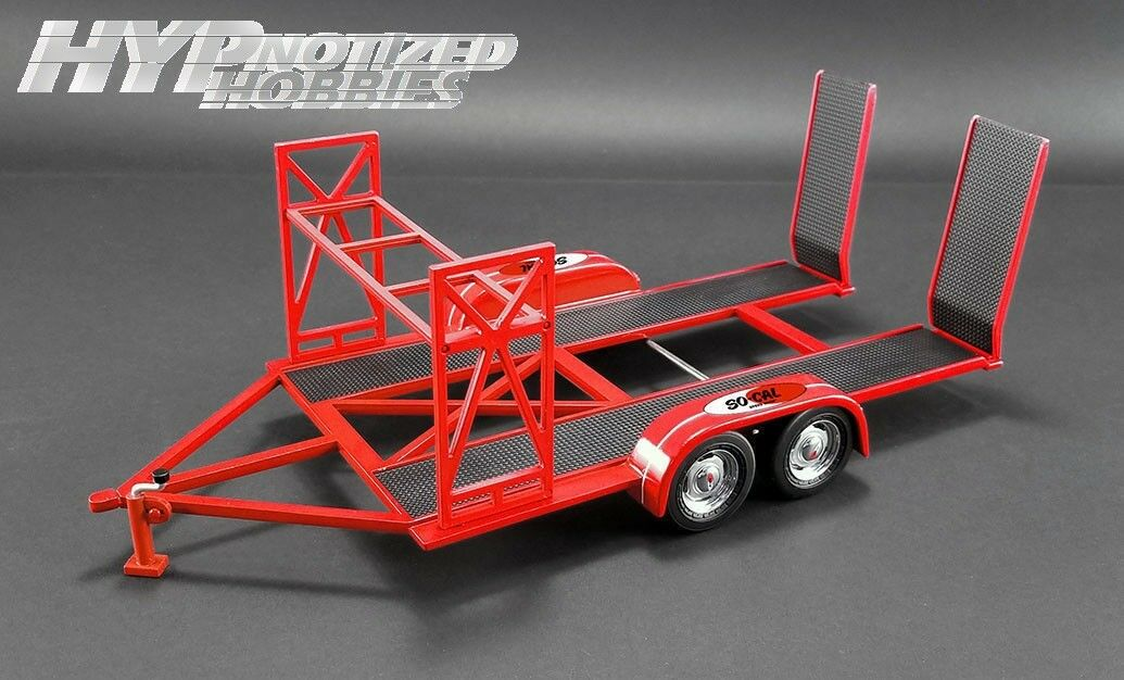 GMP 1 18 SOCAL SPEED SHOP TRAILER DIE-CAST RED 18907