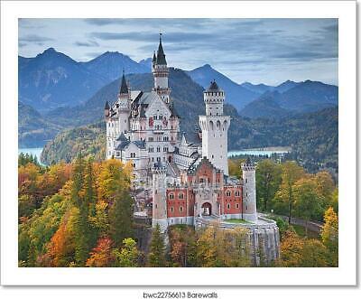 Neuschwanstein Castle Germany Art Print Home Decor Wall Art Poster C Ebay