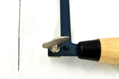 "12/"" Blue Colour Steel Frame /& Wooden Handle 300mm Fret Saw"