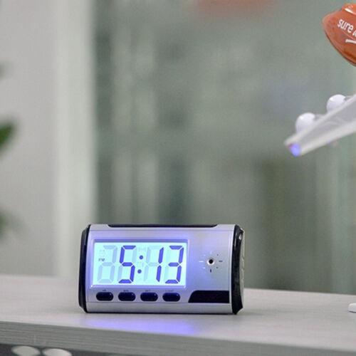 Spy Camera Alarm Clock Micro Hidden Nanny Cam Motion Detection DVR DV Video HQ