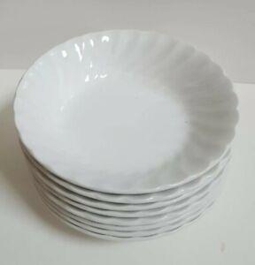 Set-of-11-Johnson-Brothers-Bros-Regency-White-Swirl-Dessert-Berry-or-Fruit-Bowls