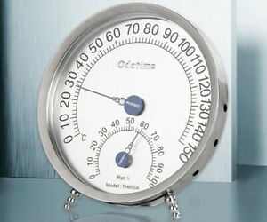 2 PCS ODATIME TH600A Stainless Steel Temperature And Humidity Hygrometer Gauge