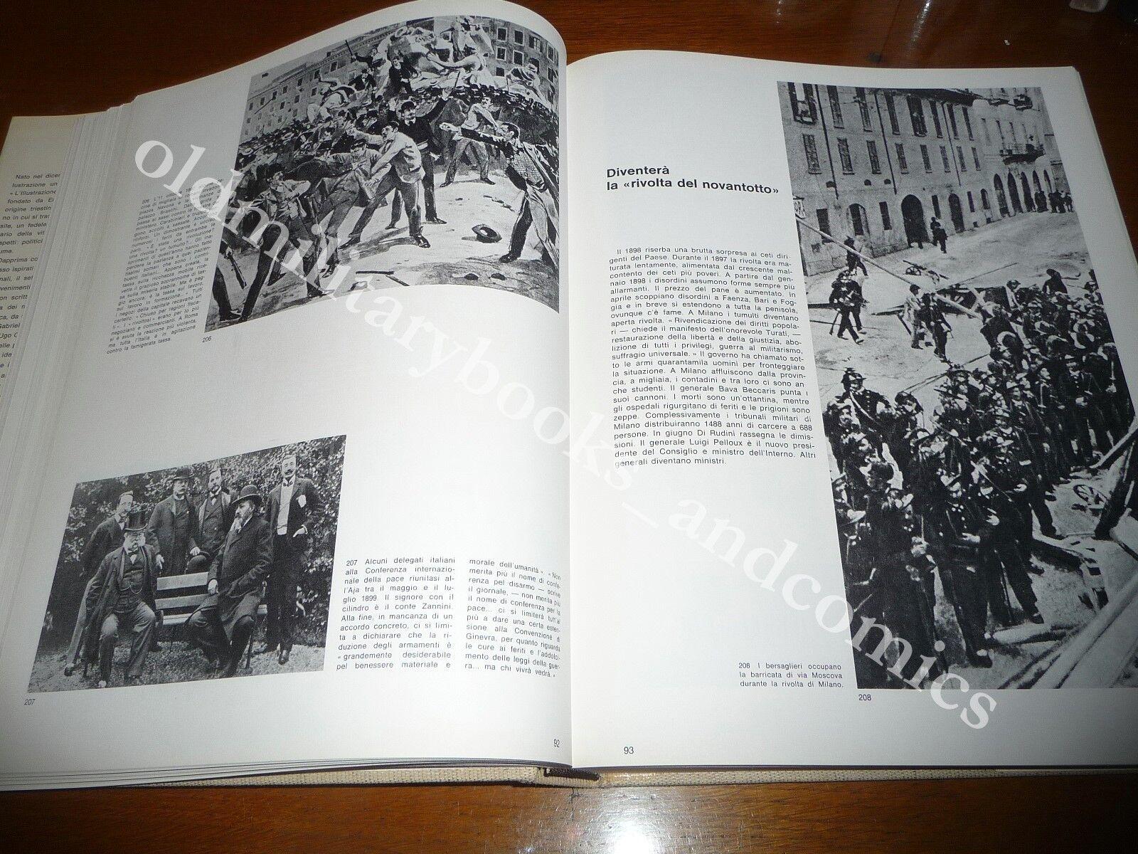 L'ILLUSTRAZIONE ITALIANA 90 ANNI DI STORIA BELLISSIMO VOL. RIPRODUZIONE ARTICOLI