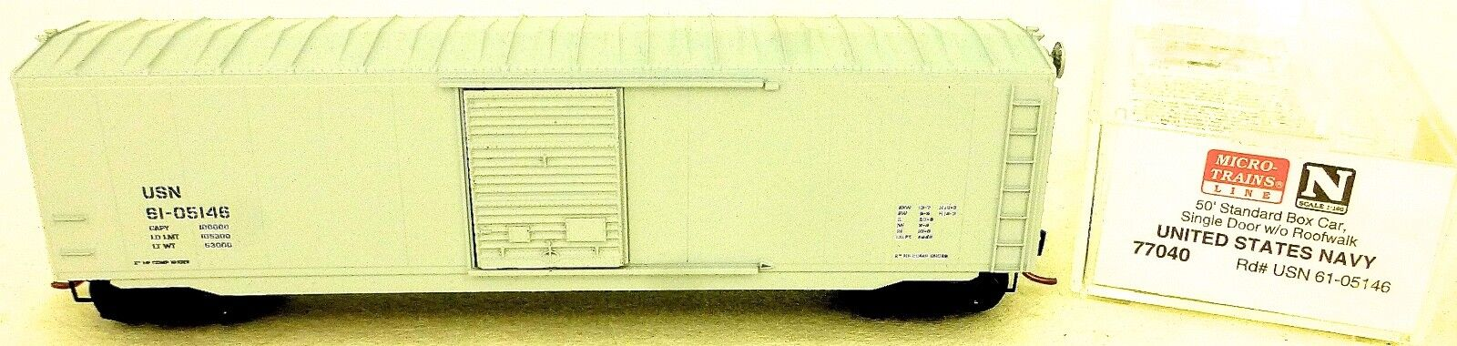 Micro Trains Line 77040 United States States States Navy 61-05146 50 ´ Box Car 1 160 Conf. 926197