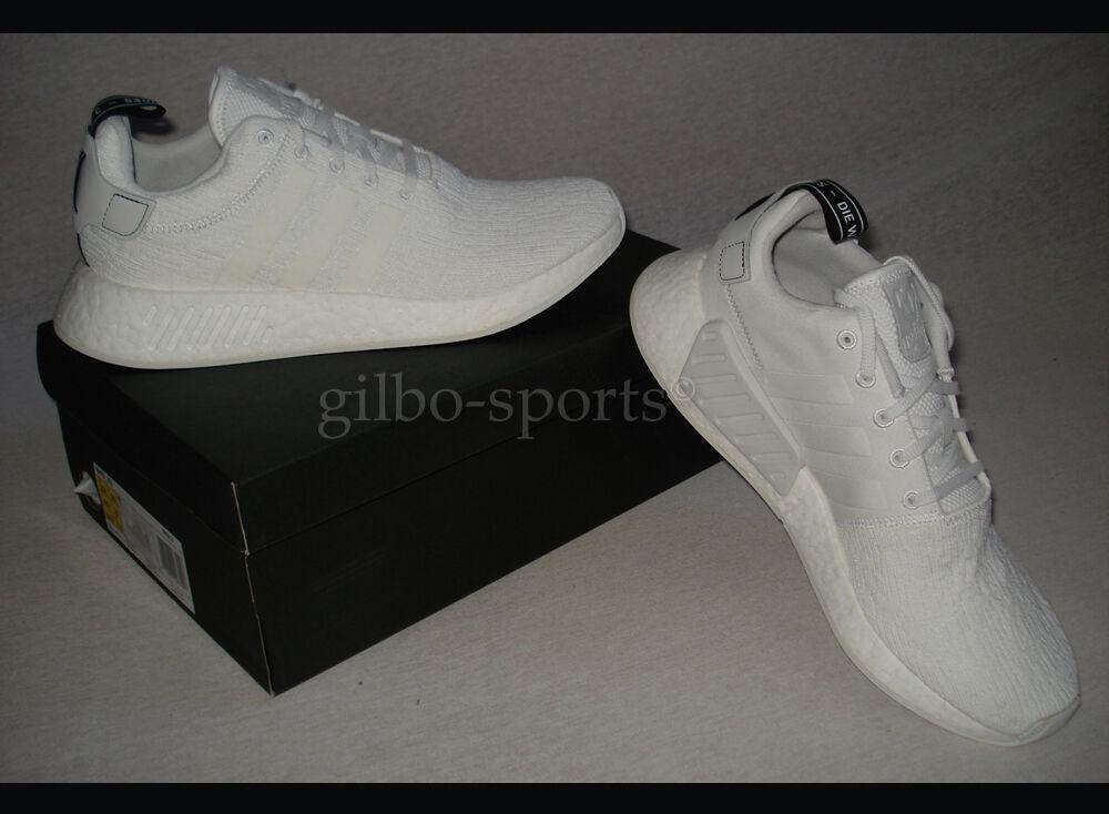 Adidas Originals nmd_r2 Triple White White White taille 44 2/3 by9914 r1 r2 | économie  10dfea