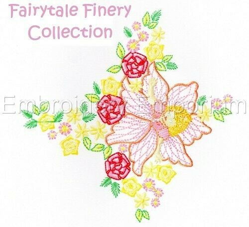 MACHINE EMBROIDERY DESIGNS ON CD OR USB FAIRYTALE FINERY COLLECTION