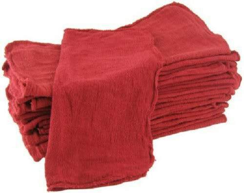 50 new red industrial shop towel rags wipers utility commercial 155# grade