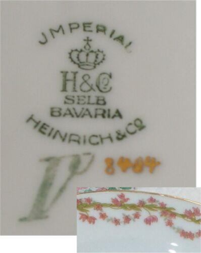 H /& C SELB BAVARIA HEINRICH /& CO JMPERIAL CHINA SOUP BOWL  ROSEBUDS PINK