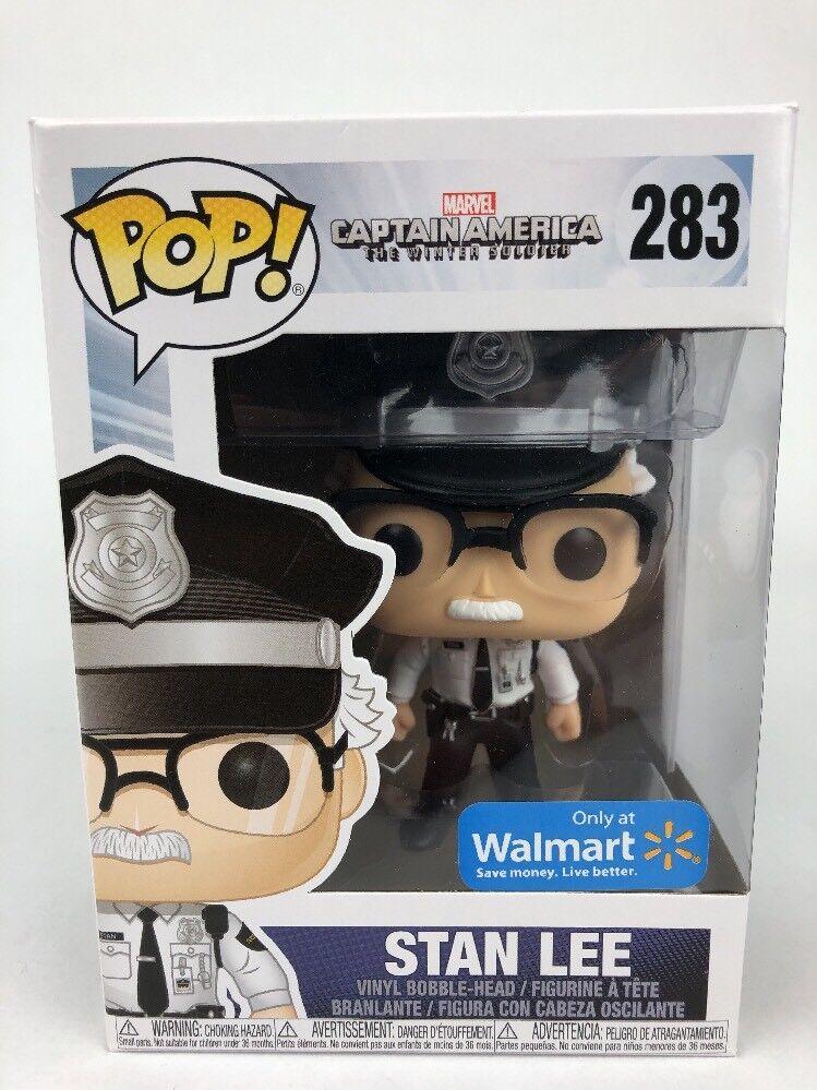 Funko Pop Stan Lee Cameo  283 Captain America Winter Soldier + Protector