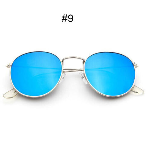 Fashion Men/'s Women/'s Round Sunglasses Cute Retro Oversized Mirror Glasses