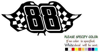 """Dale Earnhardt Jr # 88 Graphic Die Cut decal sticker Car Truck Boat Window 7/"""""""