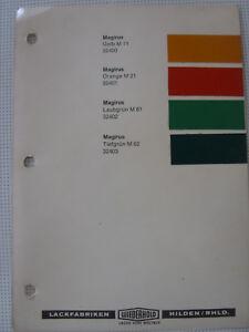 1-Ducolux-Magirus-LKW-60er-70er-Oldtimer-Color-Card-Farbkarten-Farbkatalog