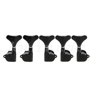 5 string electric bass guitar tuning pegs tuners machine heads sealed 2l3r black. Black Bedroom Furniture Sets. Home Design Ideas