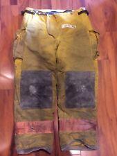 Firefighter Firegear Brand Turnout Bunker Pants 36x30 1990s Orange Trim
