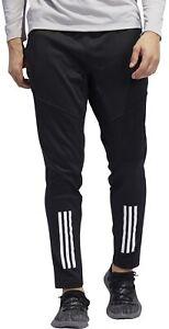 adidas-3-Stripe-ClimaWarm-Mens-Training-Pants-Black-Zip-Pockets-Workout-Joggers