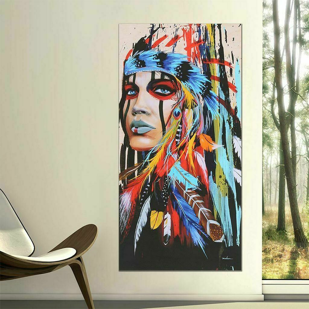 Abstract Home Canvas Prints Painting Artwork Wall Hanging Decor Indian A-S
