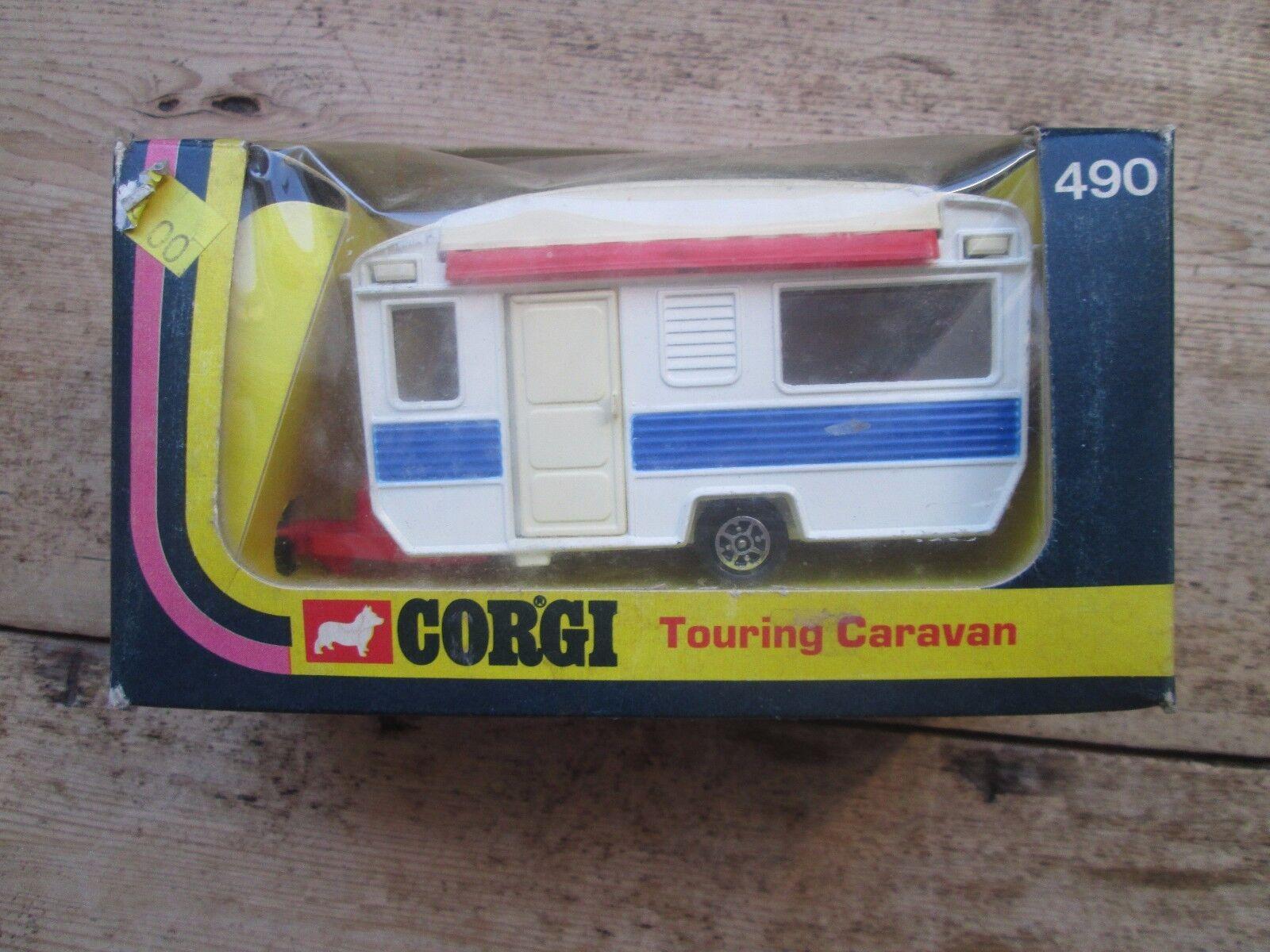 CORGI Touring Caravan 490 con l'apertura della porta e l'Estensione Sun Tettuccio