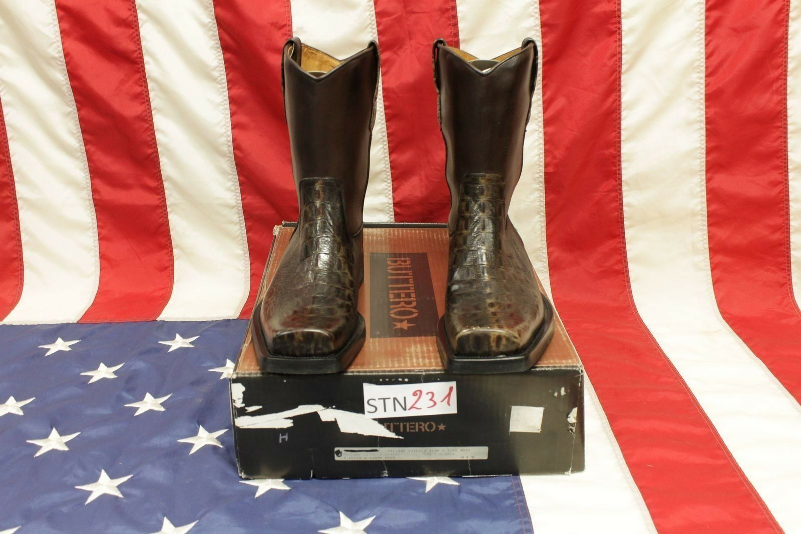 Stivali Buttero boots  boots Buttero N.41,5  (Cod.STN231) camperos cowboy western uomo Nuovi 524588