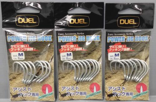 3packs Duel Yo-zuri Jigging Power Jig Hook GT Fishing Choose Your Size