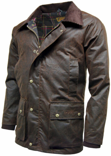 Mens Game Barker Wax Jacket with Detachable Hood Premium Antique Waxed Cotton