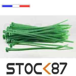 2501V# attache câble type rilsan vert 10cm de 20 à 100pcs