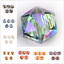 10Pcs-Hexagon-Faceted-Crystal-Glass-Charms-Spacer-Rondelle-Beads-Craft-Making thumbnail 1