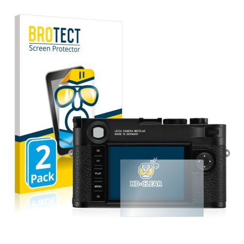 2x protector pantalla lámina claramente para Leica m10 monocromo recubrimiento protector protector de pantalla