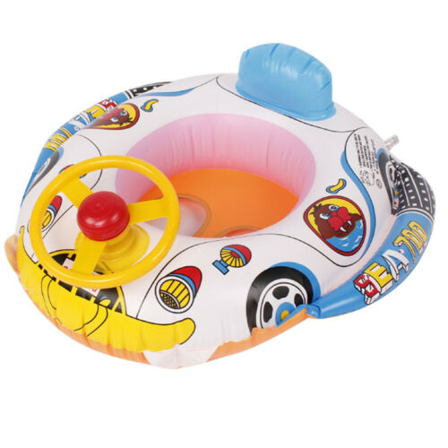 Float Seat Boat Baby Kid Summer Swim Boat Inflatable Swimming Ring Water Play UK