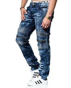 KOSMO-LUPO-Herren-Jeans-Hose-Denim-Strecht-Zipper-NEU-KM131