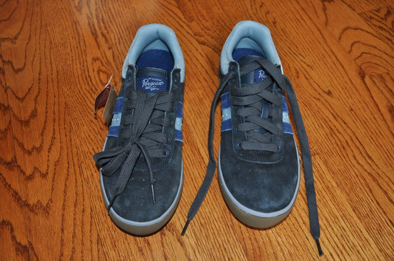 NWT!! Uomo PENGUIN Navy Blue Suede Athletic Shoes Size 8 M!!