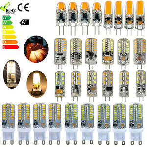 10x-G4-G9-LED-Ampoule-lampe-1-5W-2W-3W-SMD-3014-AC-DC-12V-Blanc-chaud-froid