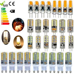 10X G4 G9 Ampoule LED 1.5W 2W 3W SMD 3014 AC DC 12V Lumière blanche et froide