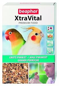 BEAPHAR-XTRAVITAL-PREMIUM-LARGE-PARAKEET-COCKATIEL-LOVEBIRD-CAGE-SEED-1KG-BOX