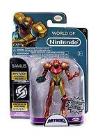 World Of Nintendo Metroid Samus Exclusive 4 Action Figure [met... Free Shipping