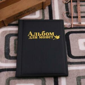 250-Pockets-PU-World-Coin-Album-Book-Case-Collection-Storage-Collecting