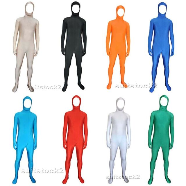 Lycra Spandex Skin Suit Catsuit Halloween Party Zentai Bare face Costumes