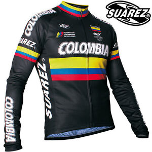 Suarez-Colombia-National-Team-Black-Long-Sleeve-Cycling-Jersey-Olympic-Edition