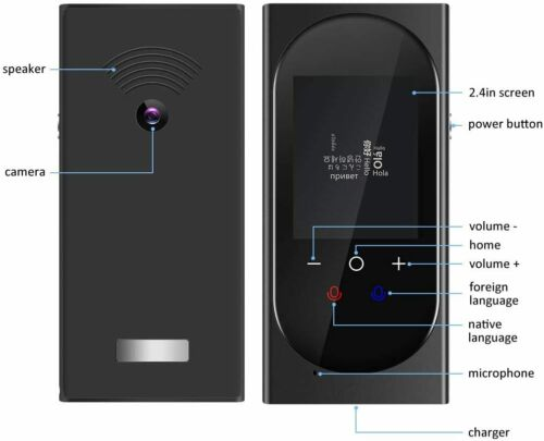 DUTERID Voice Translator Device with Camera Translation Function,Support 106 Lan
