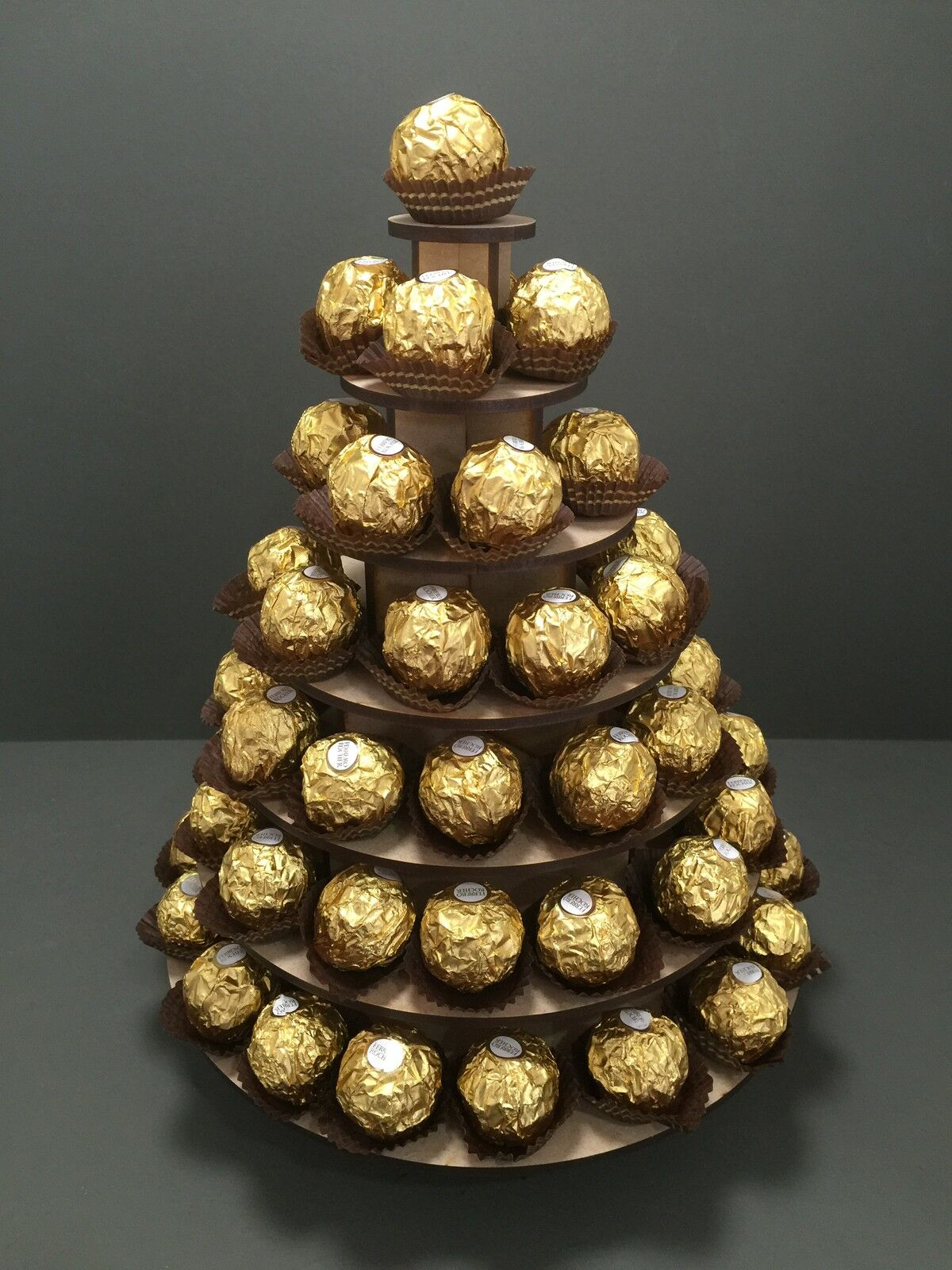 Y25 85x Chocolate 7 TIER Ferrero Rocher Rocher Rocher Wedding Table Pyramid Display Stand 8ca27e