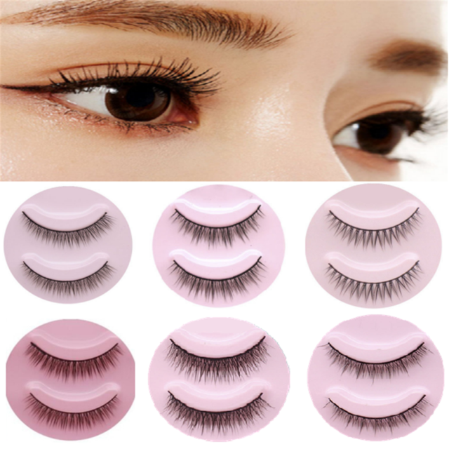 5 Pairs Short Cross False Eyelashes Handmade Makeup Natural Fake Eye Lashes HOT!