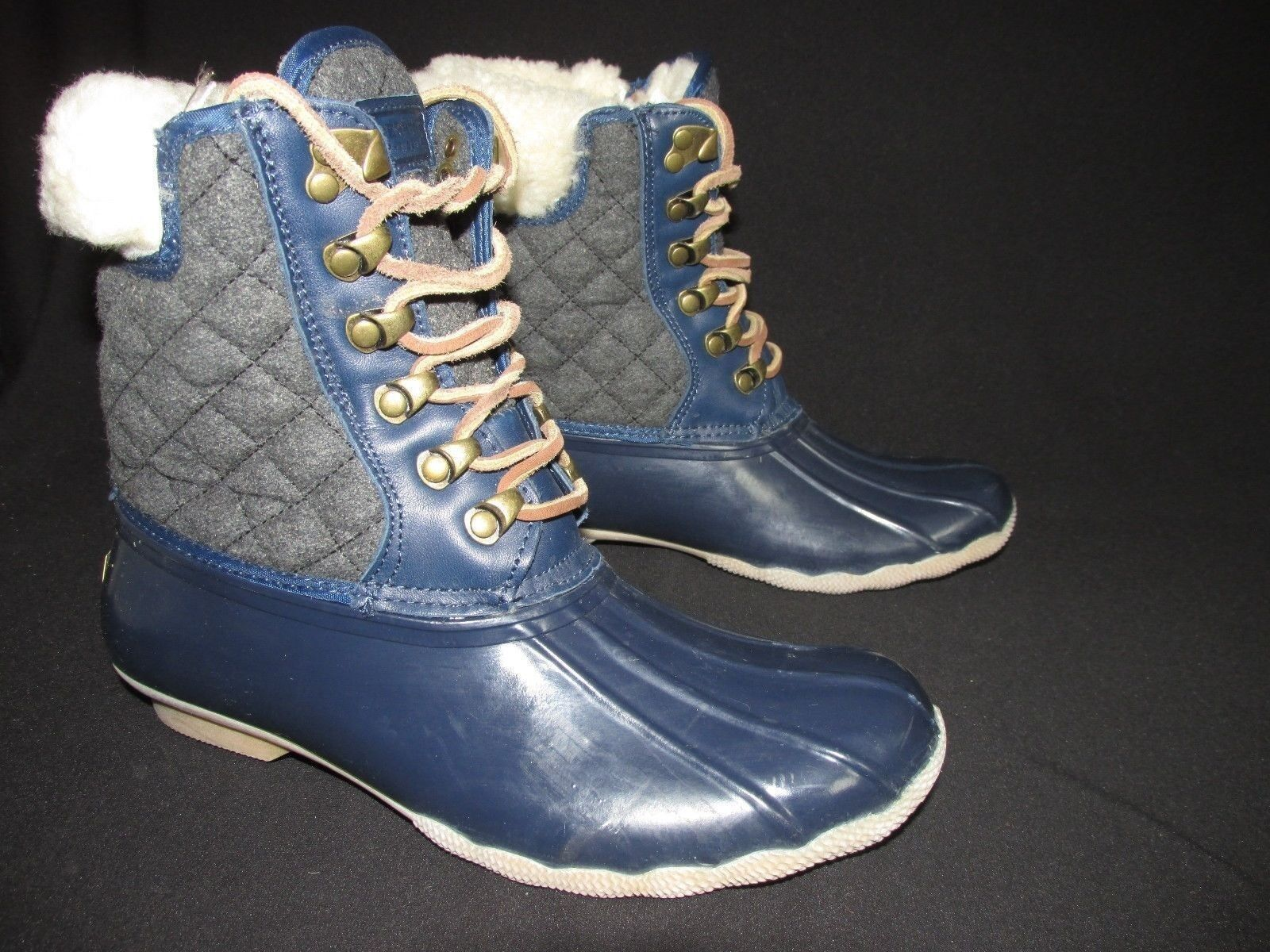 Sperry Top-Sider for J.Crew Quilted Short ShearwaterNavy   Boots Women's  US 8M