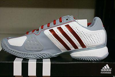 Adidas Barricade 2016 Grey Metallic Blue Mens Tennis Shoes Indoor Allcourt NEW