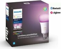 Deals on Philips Hue White & Color Ambiance A19 LED Starter Kit Refurb