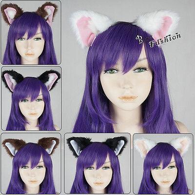 Fancy Dress Cat Fox Ears Headband Anime Cosplay Party Costume Orecchiett