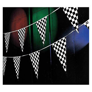 Image Is Loading 100ft Black And White Checkered Party Supplies Decoration