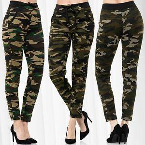 Pantalon-de-loisirs-avec-motif-camouflage-Sports-de-jogging-Stretch-elastiquee