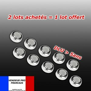 pile-AG3-equiv-G3-LR41-SR41-GP92A-LR736-392A-lot-10-piles-bouton-SANS-MERCURE
