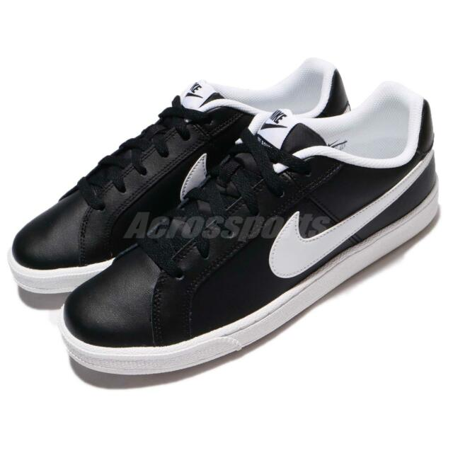43aa291669a313 Nike Court Royale Black White Tennis Inspired Men Casual Shoes 749747-010