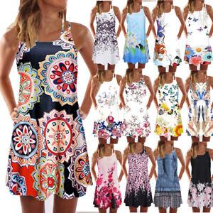 Vintage-Boho-Women-Summer-Sleeveless-Beach-Printed-Short-Mini-Dress-Vest-Ladies